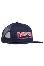 Thrasher Thrasher Hat Outlined Trucker Snapback (Navy/Red)