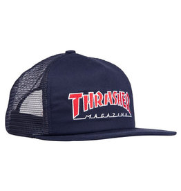 Thrasher Thrasher Hat Outlined Trucker Snapback (Navy/Red)