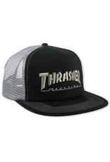 Thrasher Thrasher Hat Magazine Logo Snapback Trucker (Black/Grey)