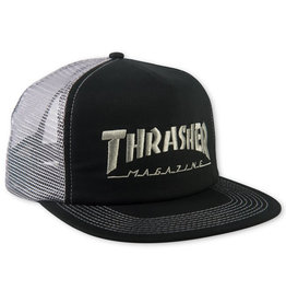 Thrasher Thrasher Hat Magazine Logo Snapback Trucker (Black/Grey)