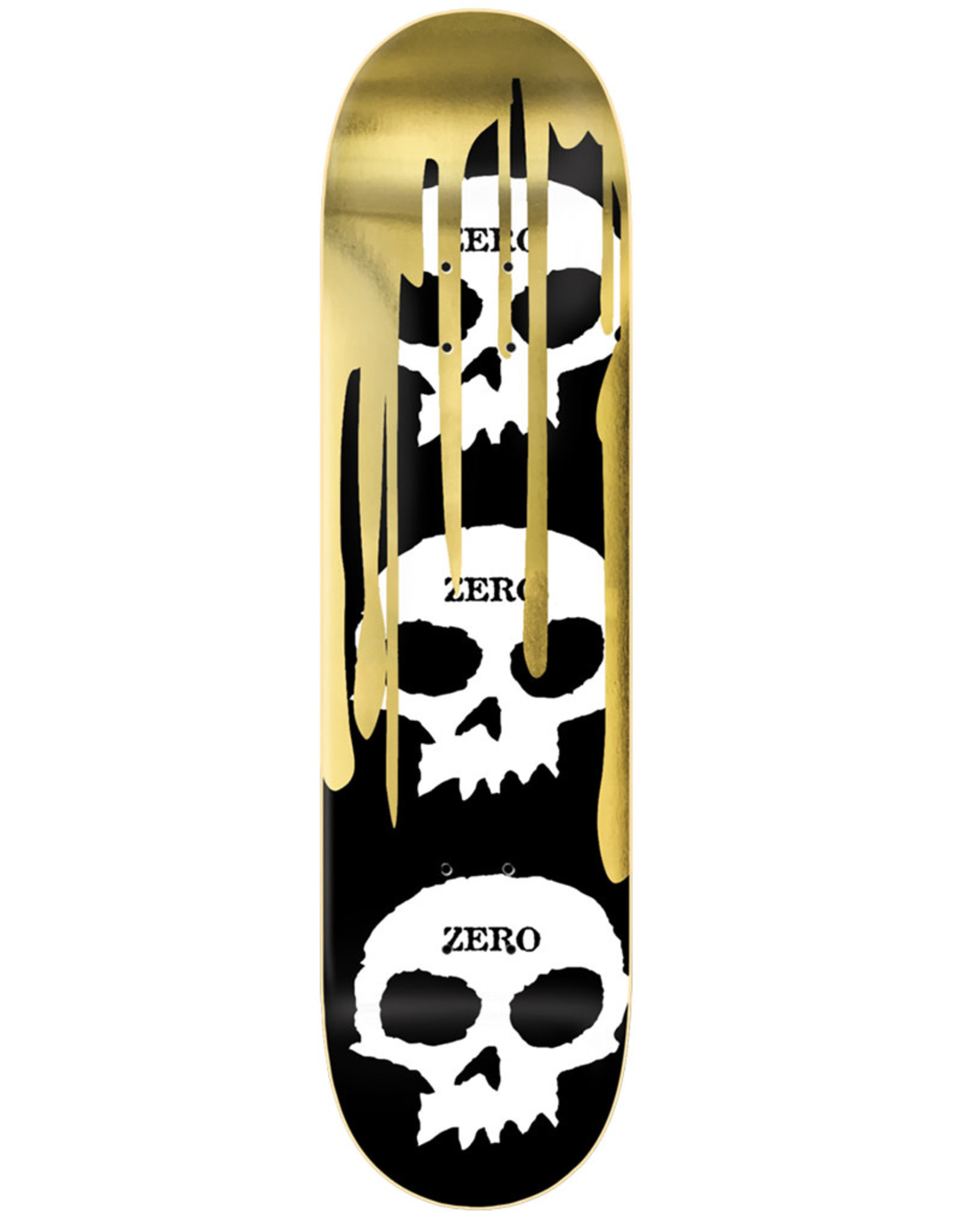 Zero Skateboards Zero Deck Team 3 Skull Blood Gold Foil (8.25)