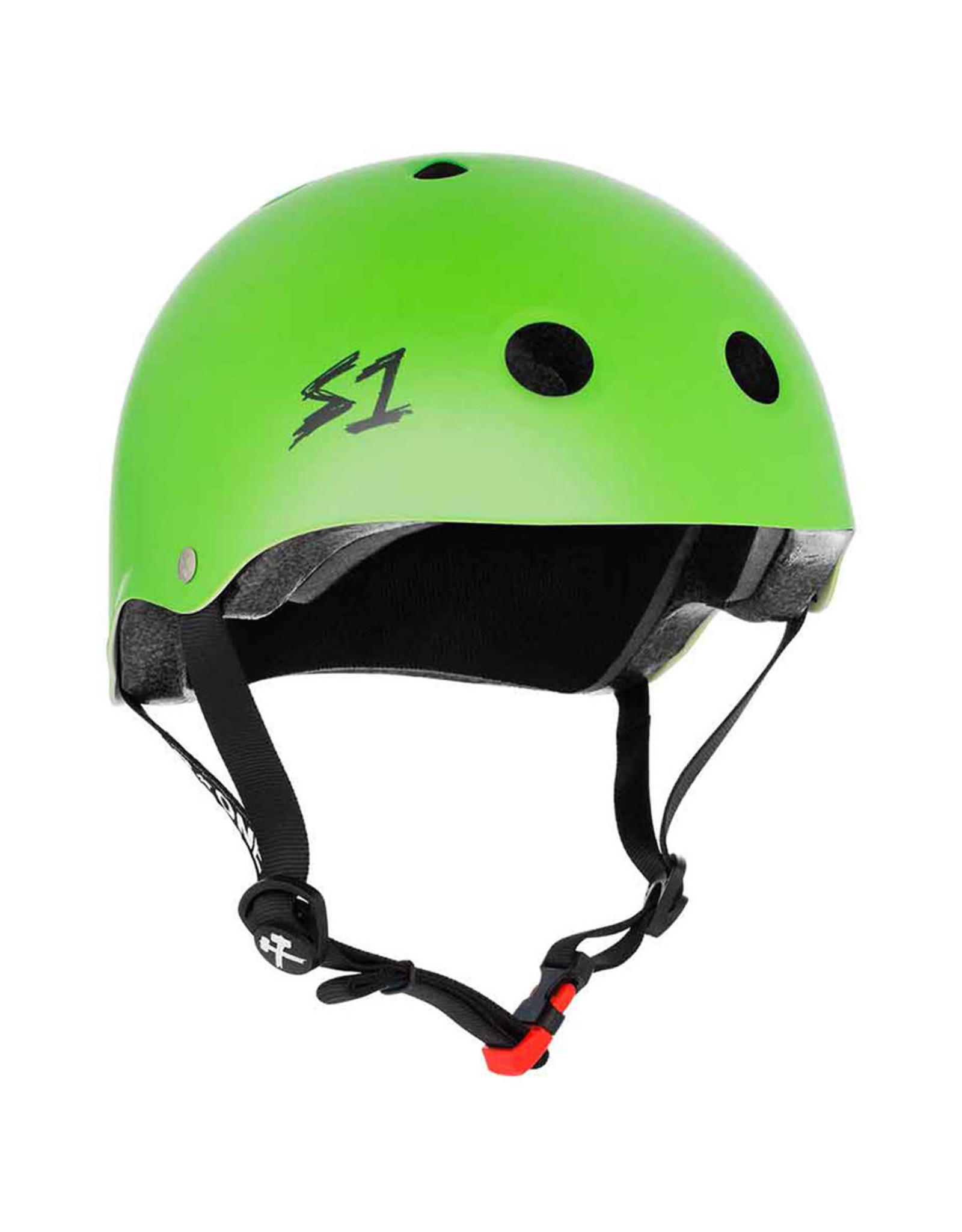 S-One S-One Helmet The Mini (Bright Green Matte/Black Straps)