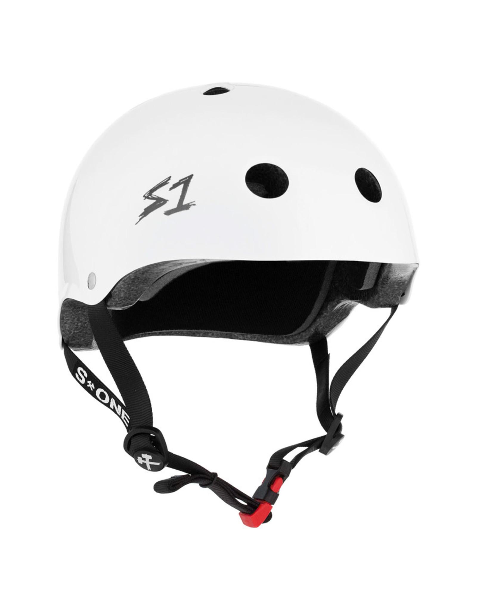 S-One S-One Helmet The Mini (Gloss White/Black Straps)