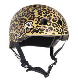 S-One S-One Helmet The Adult Lifer (Tan Leopard Print/Black Straps)