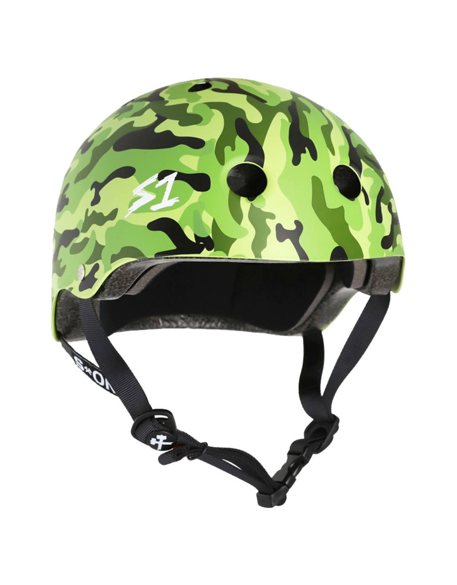 S-One S-One Helmet The Adult Lifer (Matte Green Camo/Black Straps)