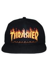 Thrasher Thrasher Hat Flame Logo Snapback (Black)