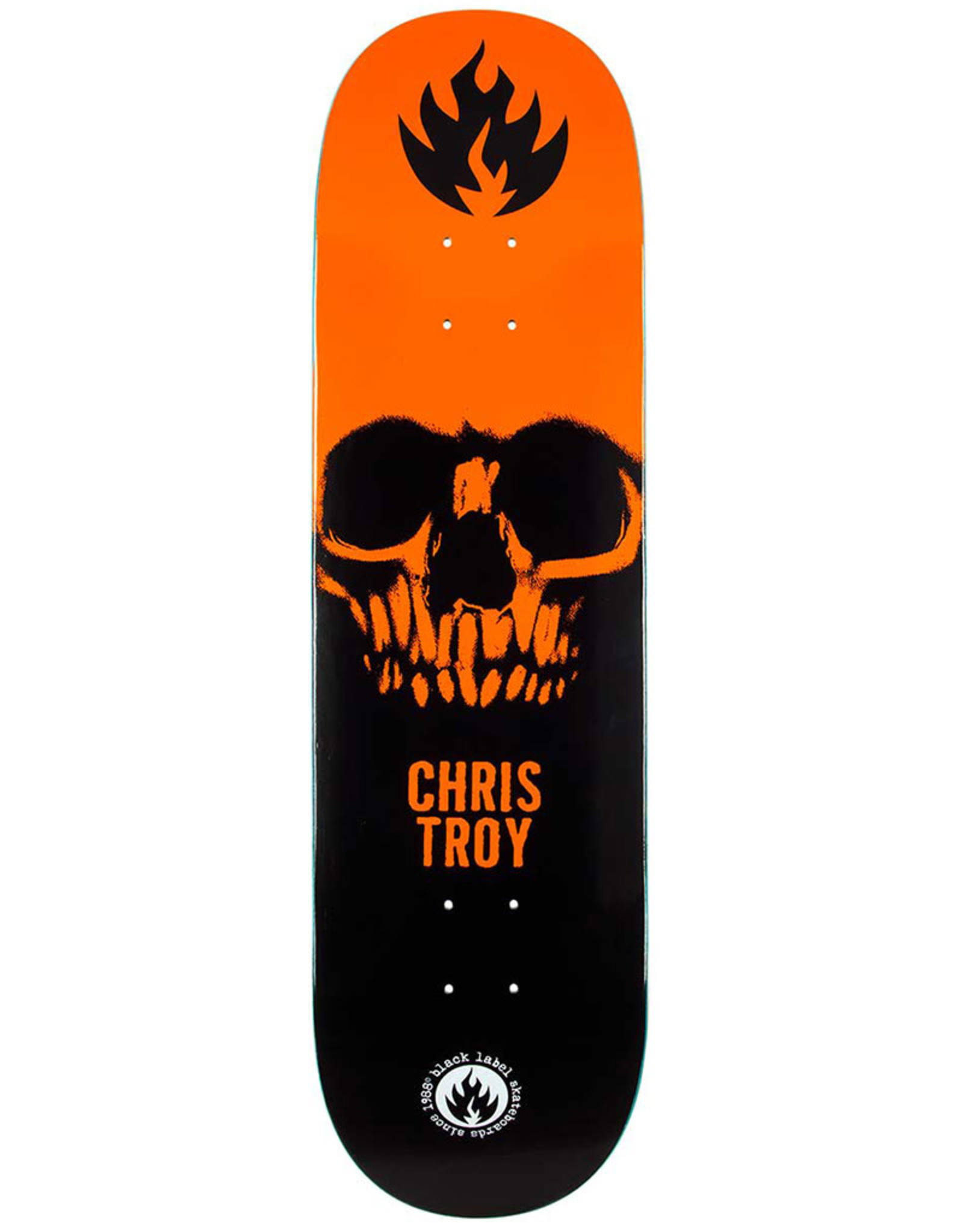 Black Label Black Label Deck Chris Troy Skull Black/Orange/White (8.5)