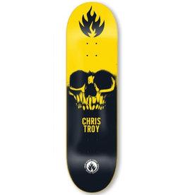 Black Label Black Label Deck Chris Troy Skull Black/Yellow/White (8.5)