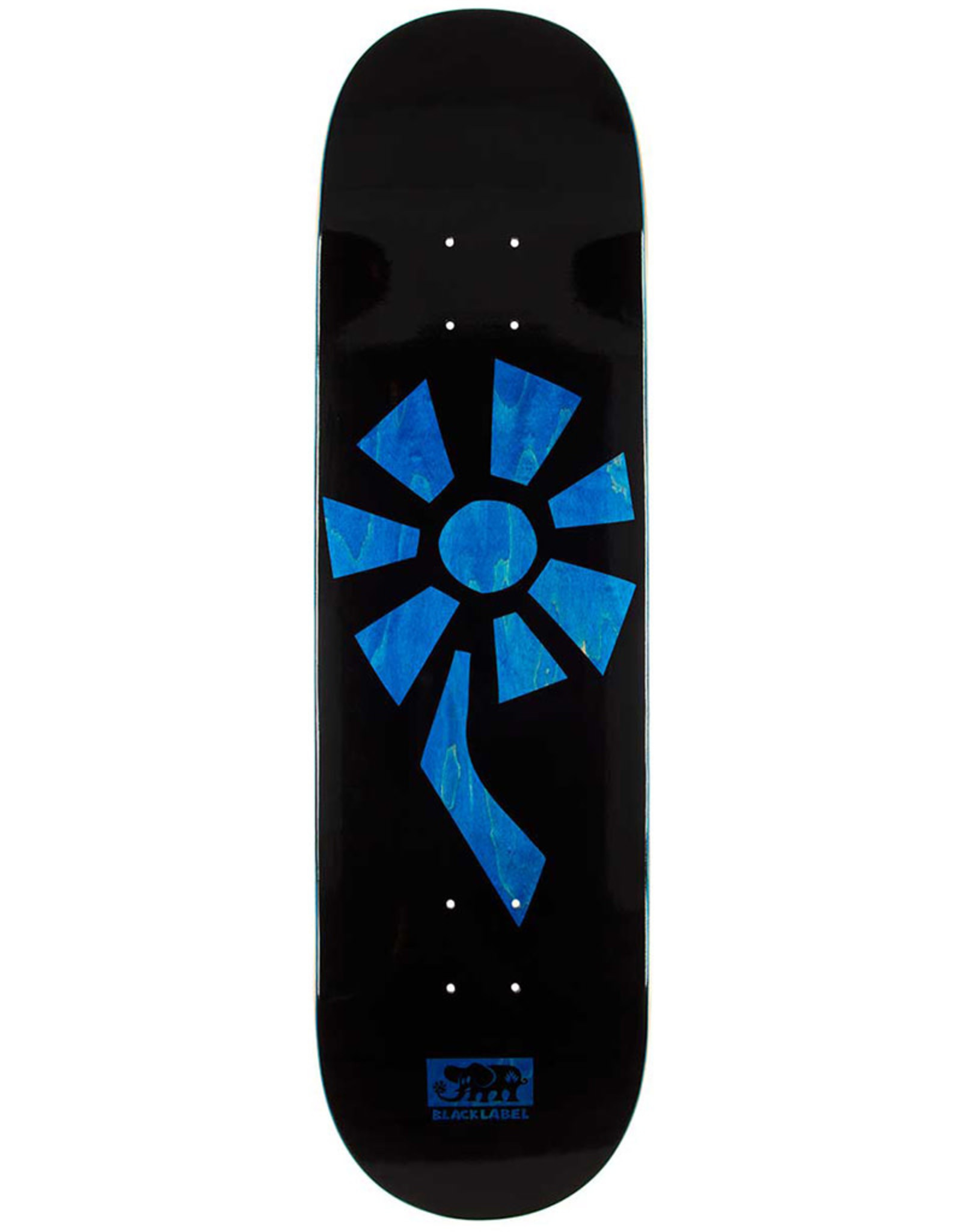 Black Label Black Label Deck Team Flower Power Black/Blue (8.5)