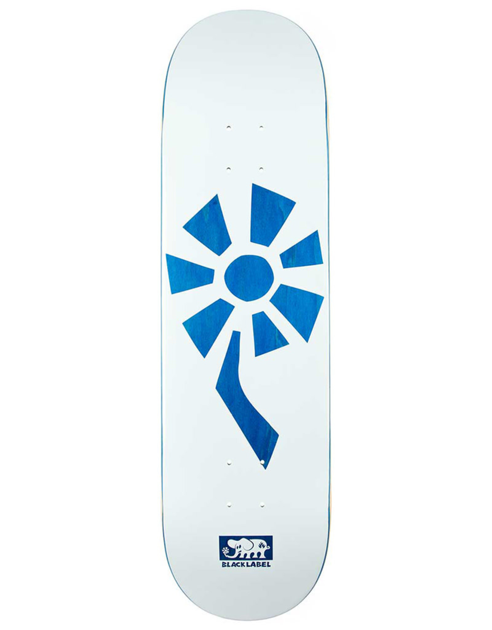 Black Label Black Label Deck Team Flower Power White/Blue (8.5)