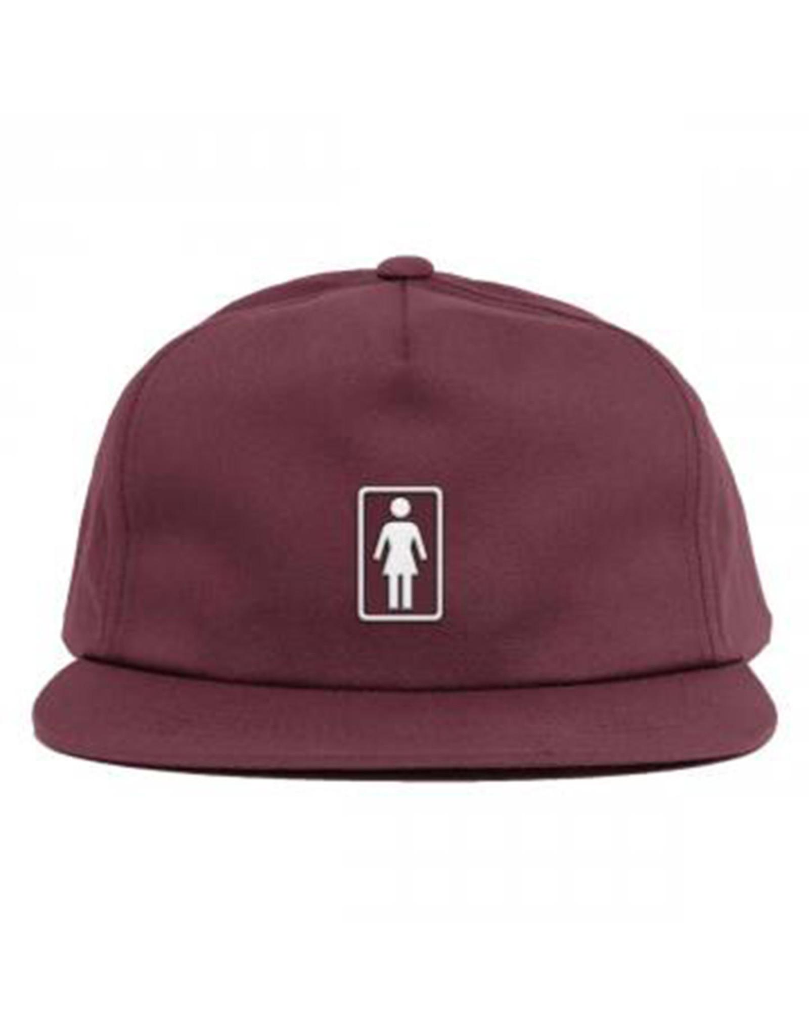 Girl Girl Hat Classic OG Snapback (Burgundy)