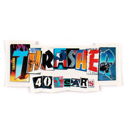 Thrasher Thrasher Sticker 40 Year Die Cut
