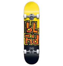 Blind Blind Complete Matte OG Stacked First Push Soft Wheels Black/Yellow (7.5)