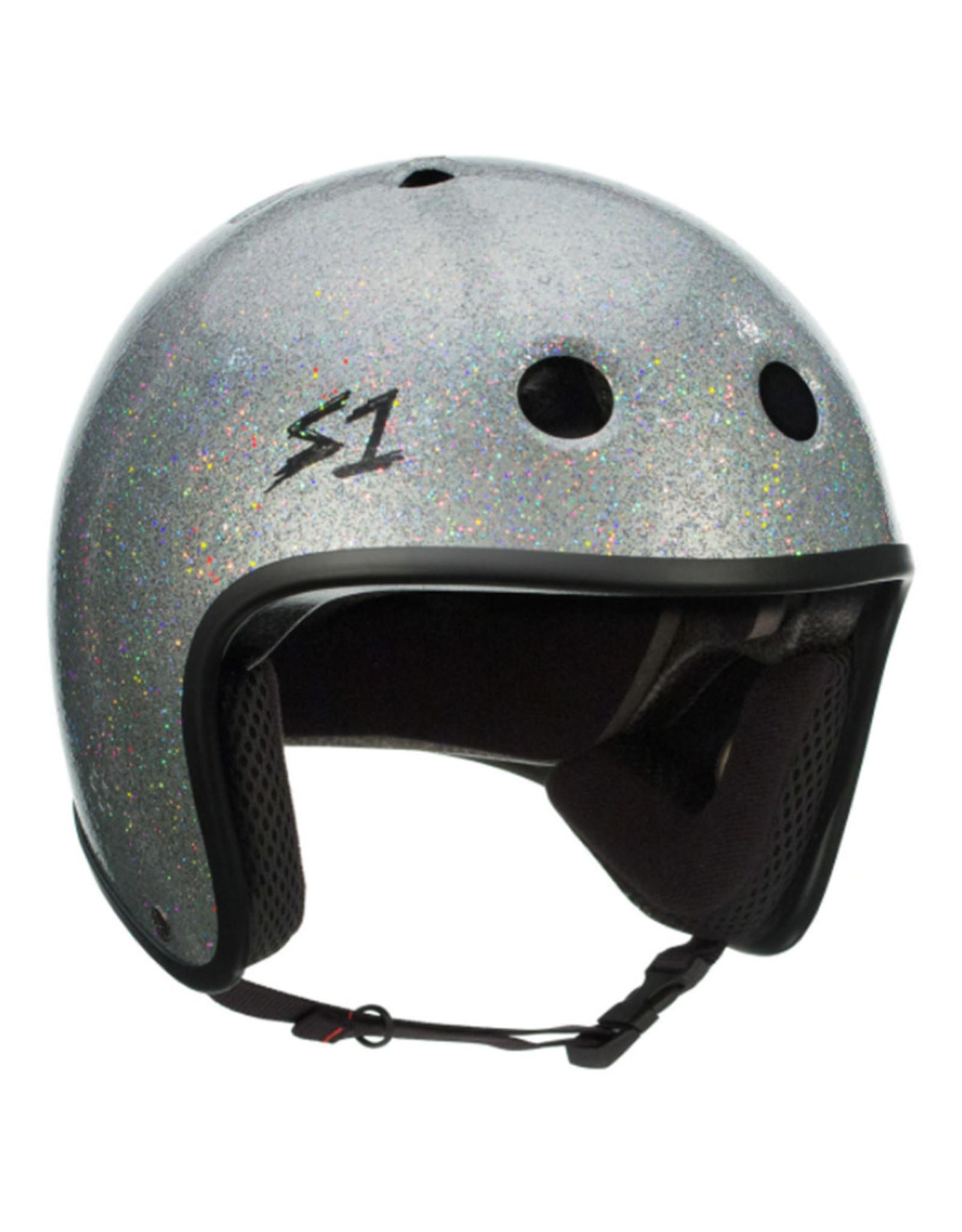 S-One S-One Helmet Adult Retro (Silver Glitter/Black Straps)