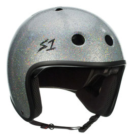 S-One S-One Helmet Adult Retro (Silver Glitter/Black Straps)
