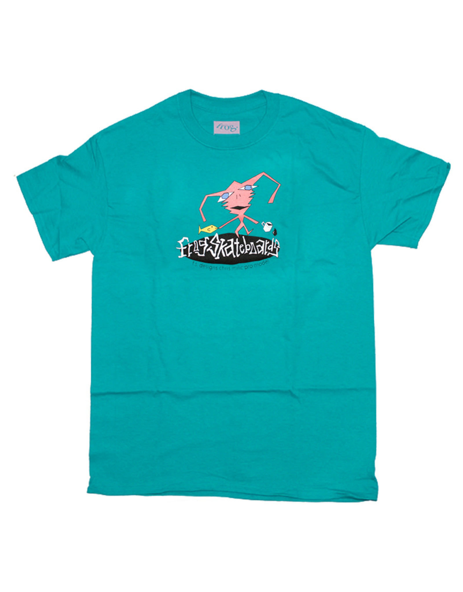 Frog Frog Tee F.S. Designs Chris Milic S/S (Teal)
