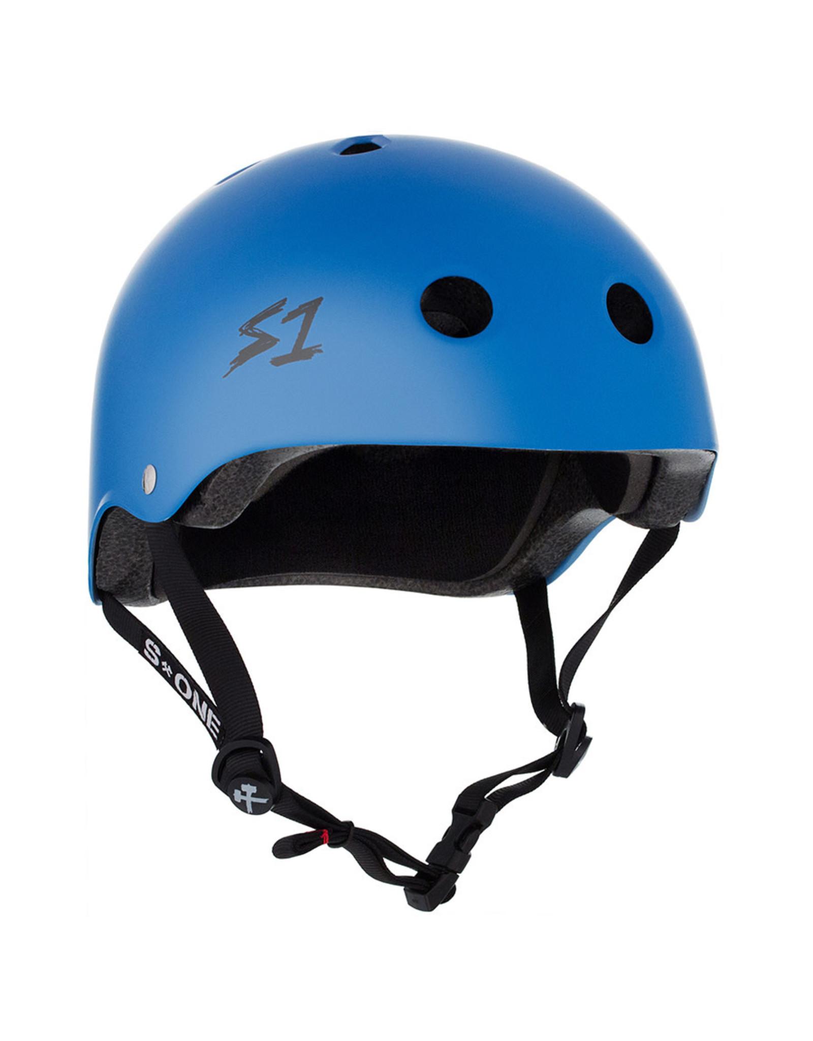 S-One S-One Helmet The Adult Lifer (Cyan Matte/Black Straps)
