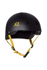 S-One S-One Helmet The Adult Lifer (Black Matte/Yellow Straps)