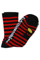 Toy Machine Toy Machine Socks Monster Face Mini Stripes Crew (Red)