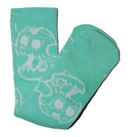 Toy Machine Toy Machine Socks Monster Skull Crew (Aqua)