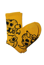 Toy Machine Toy Machine Socks Monster Skull Crew (Mustard)