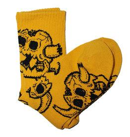 Toy Machine Toy Machine Socks Monster Skull Crew (Mustard)