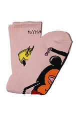 Toy Machine Toy Machine Socks Mousketeer Crew (Pink)