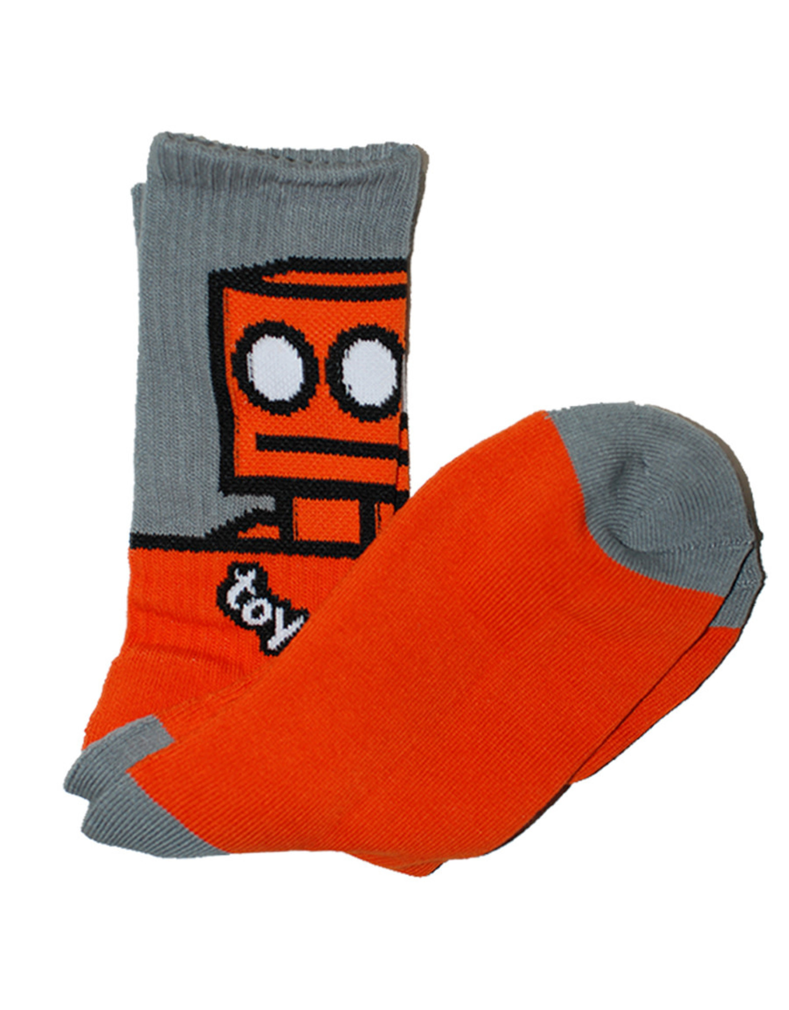 Toy Machine Toy Machine Socks Robot Crew (Orange)