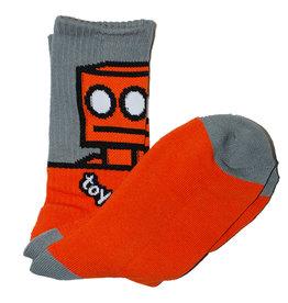 Toy Machine Toy Machine Socks Robot Crew (Orange)