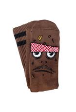 Toy Machine Toy Machine Socks Poo Poo Head Crew (Brown)