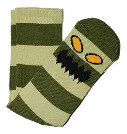 Toy Machine Toy Machine Socks Monster Big Stripe Crew (Green)