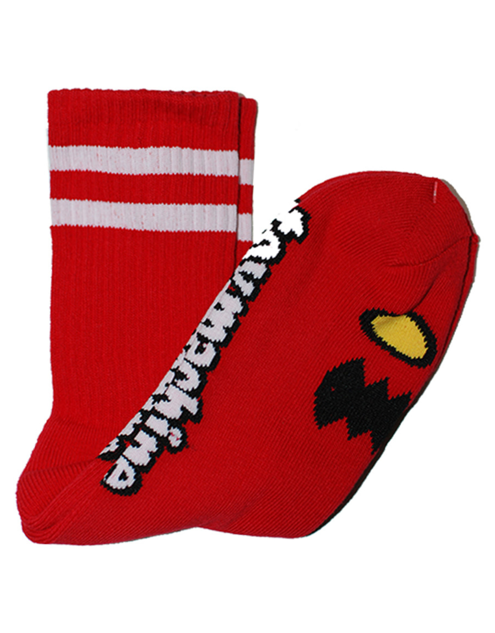 Toy Machine Toy Machine Socks Monster Face Crew (Red)