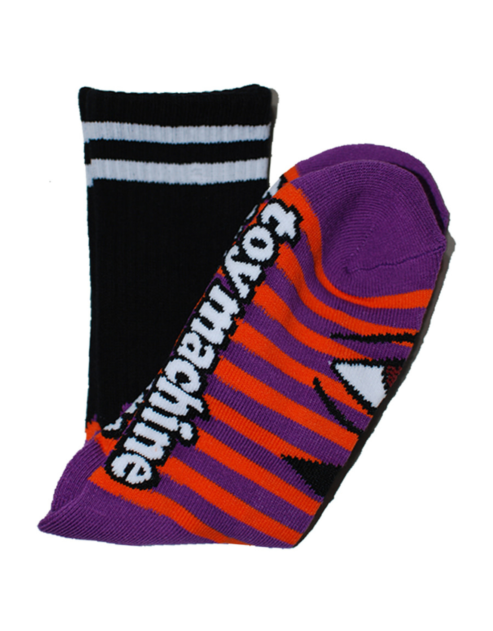 Toy Machine Toy Machine Socks Sect Eye Stripe Crew (Purple/Orange)