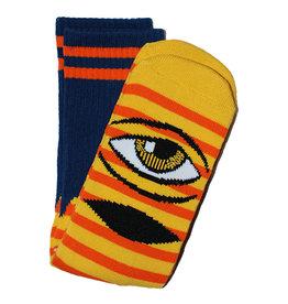 Toy Machine Toy Machine Socks Sect Eye Stripe Crew (Yellow/Navy)