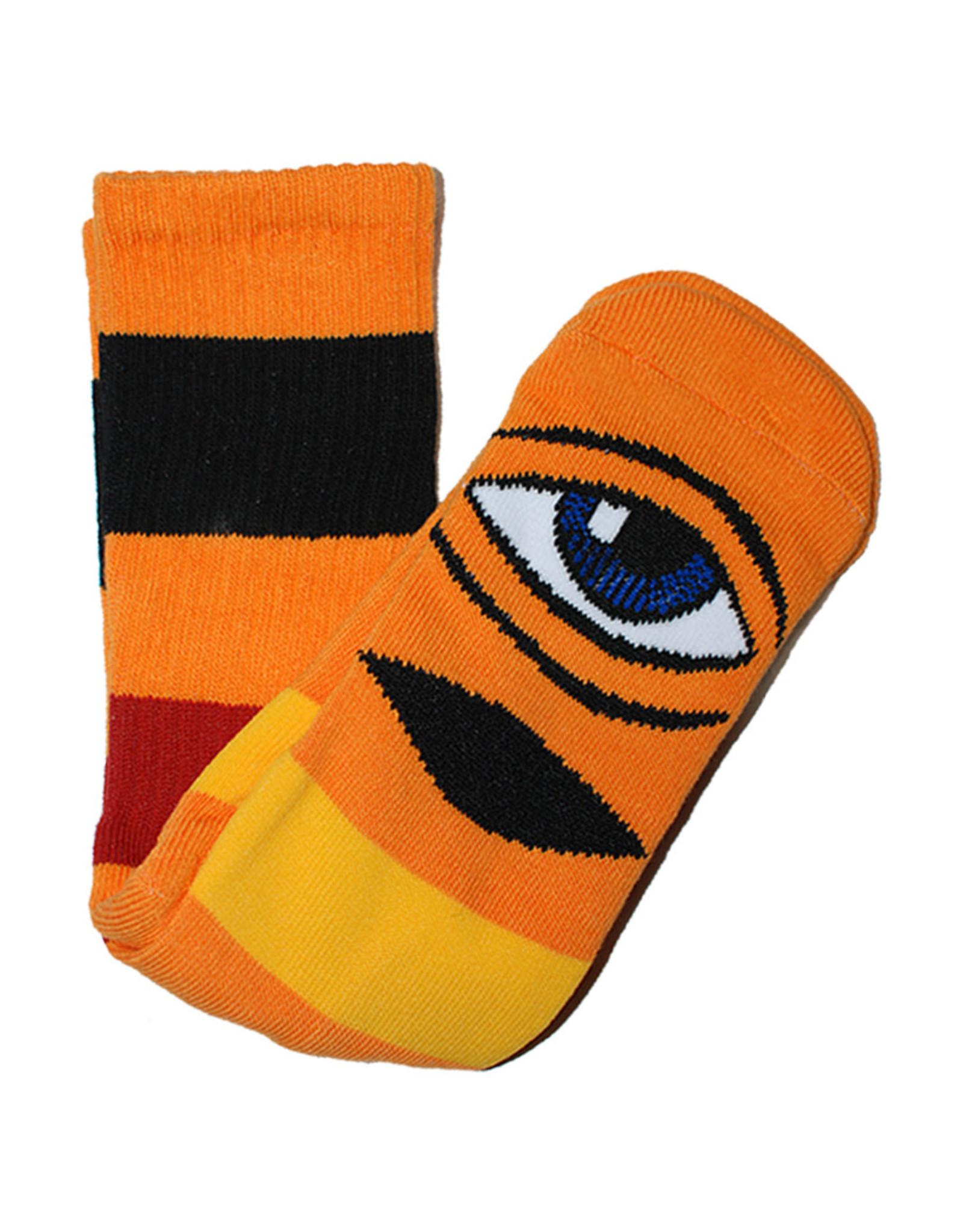 Toy Machine Toy Machine Socks Sect Eye Big Stripe Crew (Orange)