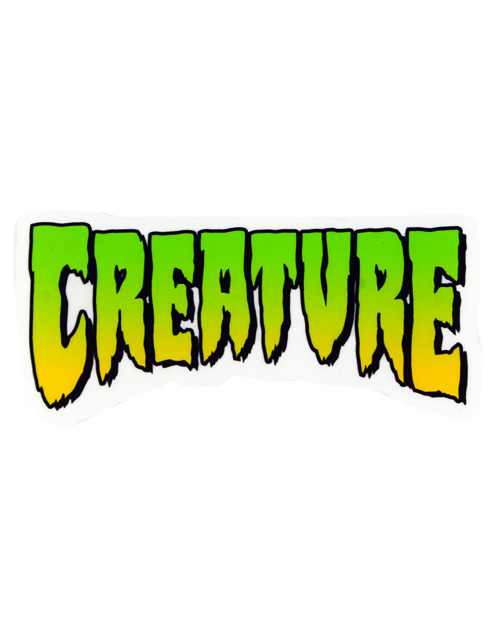 "Creature Creature Sticker Logo Green (4"")"