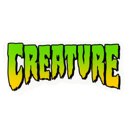 "Creature Creature Sticker Logo Green (4"")"