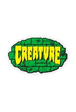 "Creature Creature Sticker Crypt Green/Black/Yellow (4"")"