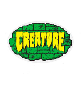 "Creature Creature Sticker Crypt Green/Black/Yellow (4"")"