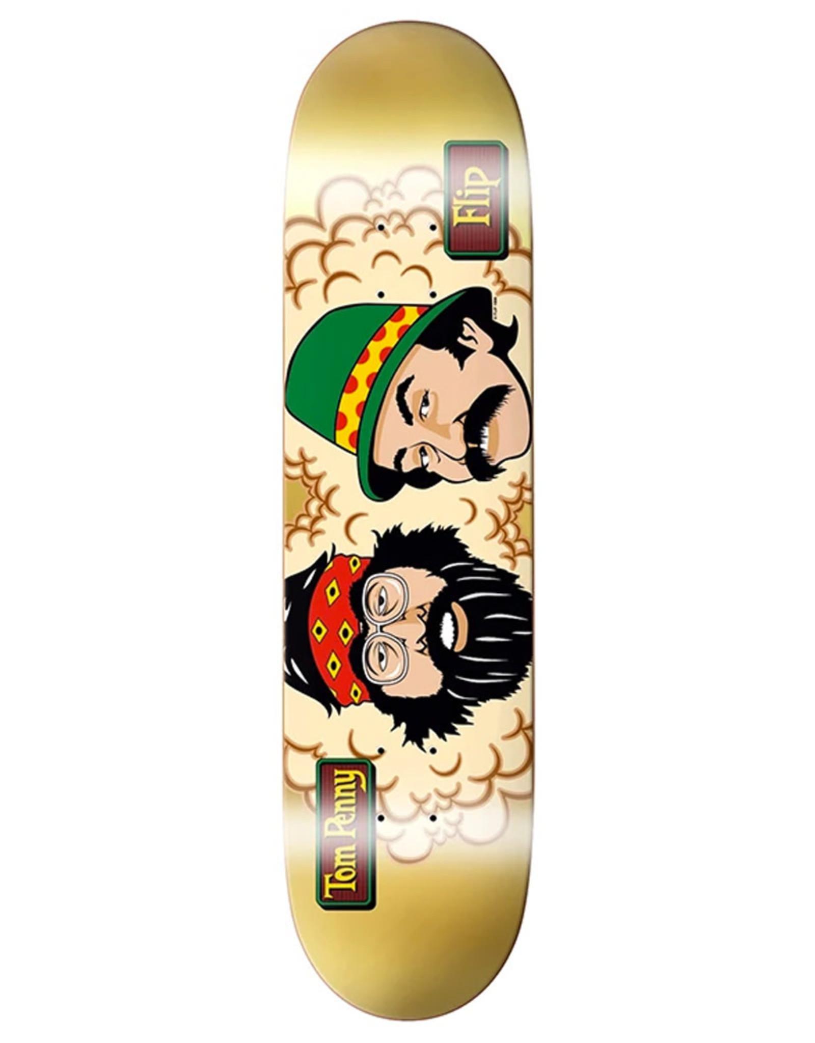 Flip Skateboards Flip Deck Tom Penny  Cheech And Chong's 50th Gold Foil (8.0)