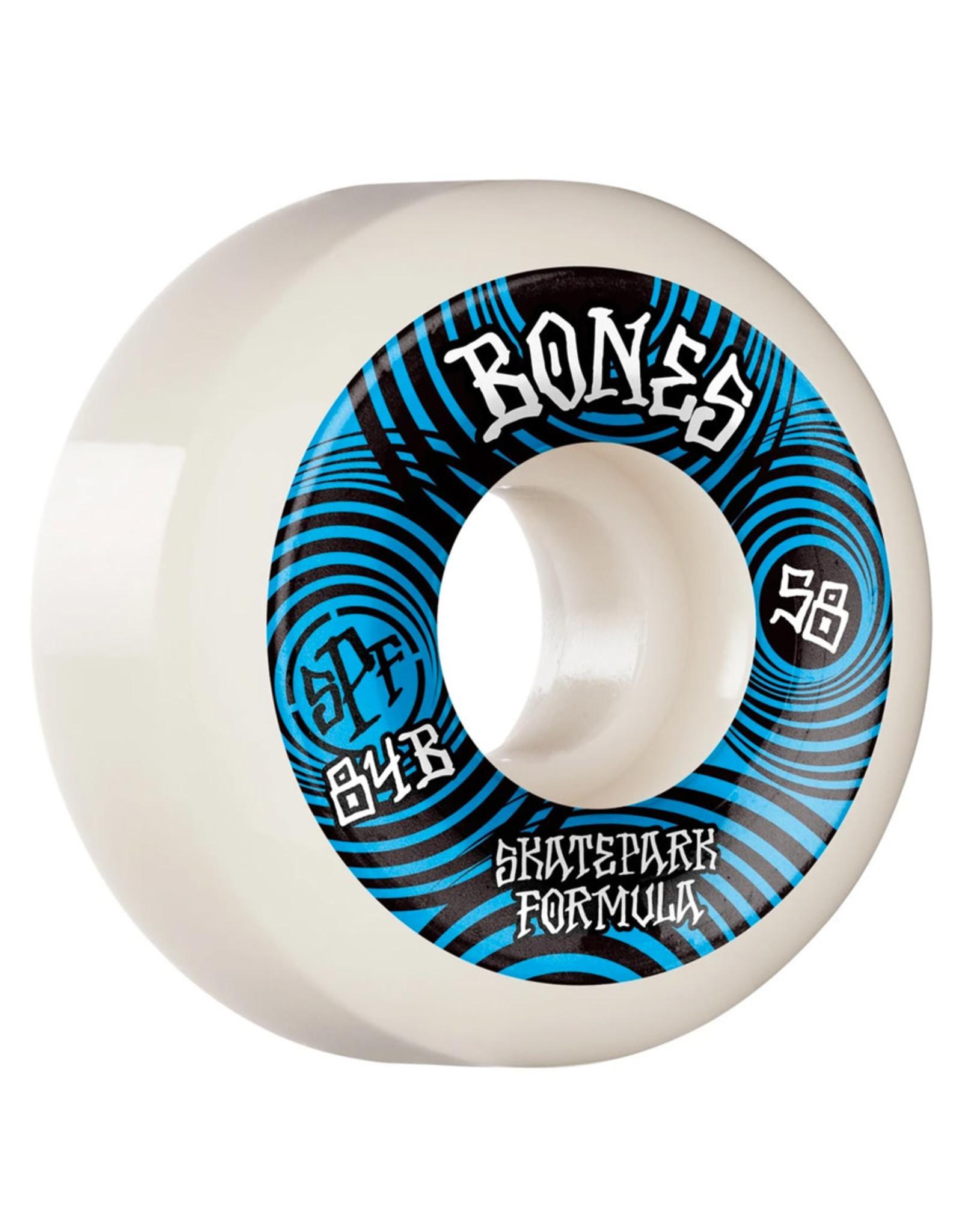 Bones Bones Wheels SPF Ripples P5 Sidecut White (58mm/84b)