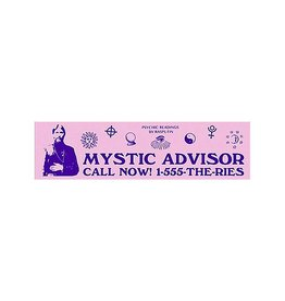 Theories Of Atlantis Theories Sticker Mystic Advisor (Pink/Purple)
