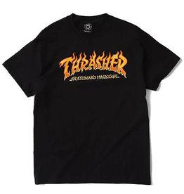 Thrasher Thrasher Tee Mens Fire Logo S/S (Black)