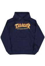 Thrasher Thrasher Hood Mens Fire Logo (Navy Blue)
