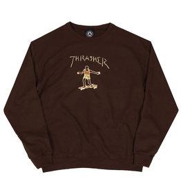 Thrasher Thrasher Crew Mens Gonz Logo (Dark Chocolate)