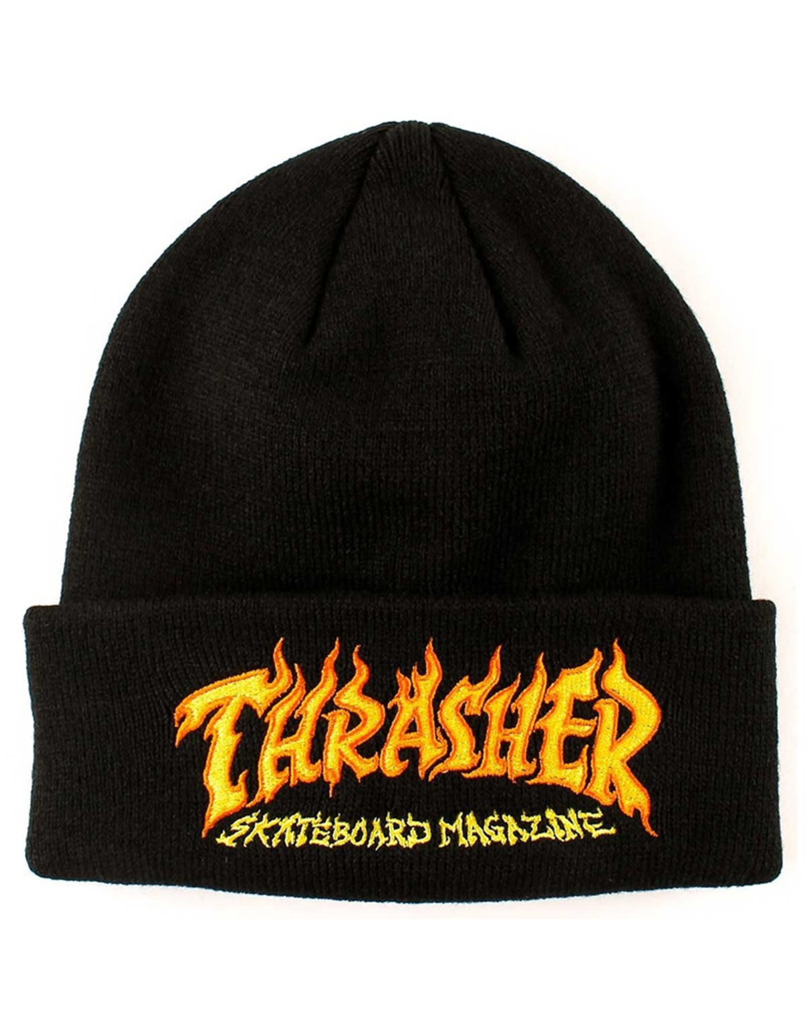 Thrasher Thrasher Beanie Fire Logo (Black)