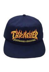 Thrasher Thrasher Hat Fire Logo Snapback (Navy Blue)