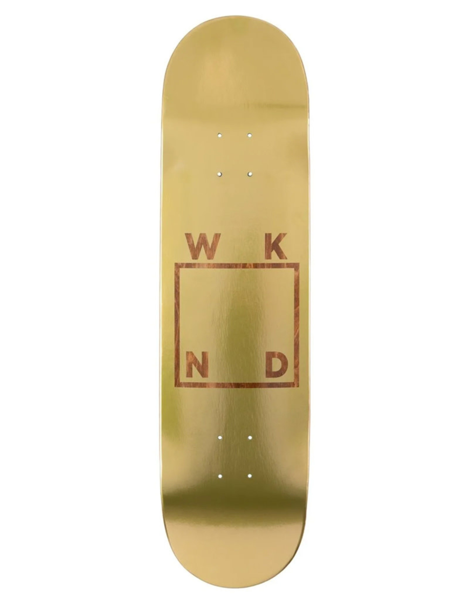 Wknd Skateboards Wknd Deck Team Logo Gold Plated Logo (8.375)