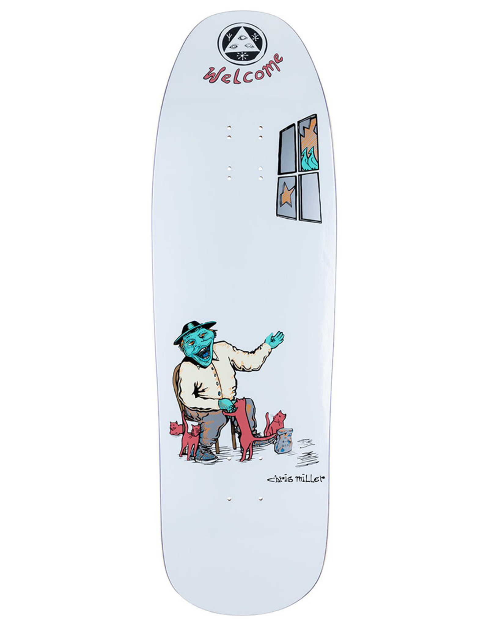 Welcome Welcome Deck Chris Miller Bird Feeder On Gaia White (9.6)