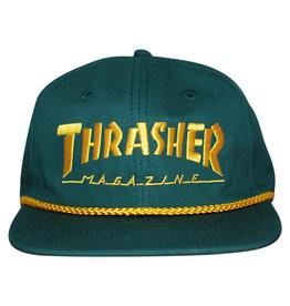 Thrasher Thrasher Hat Logo Rope Snapback (Green/Yellow)